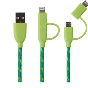 cable boompods duo verde 1m microusb