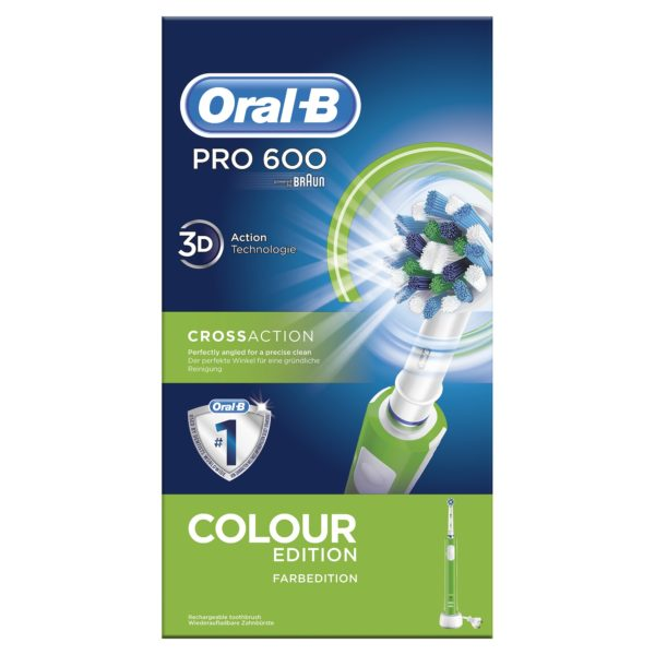 cepillo dental oral-b pro600 crossaction verde