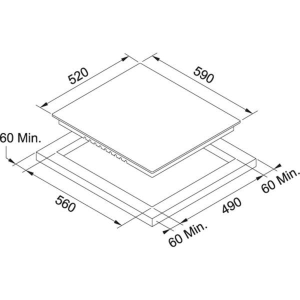 placa vitrocerámica mepamsa 640g 4f