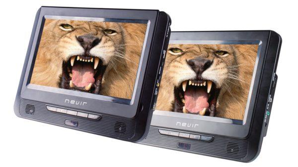 "dvd portatil nevir nvr2776dvd 9"" 2 pantallas"