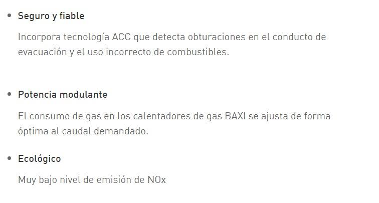 Calentadores de gas Bajo_NOx