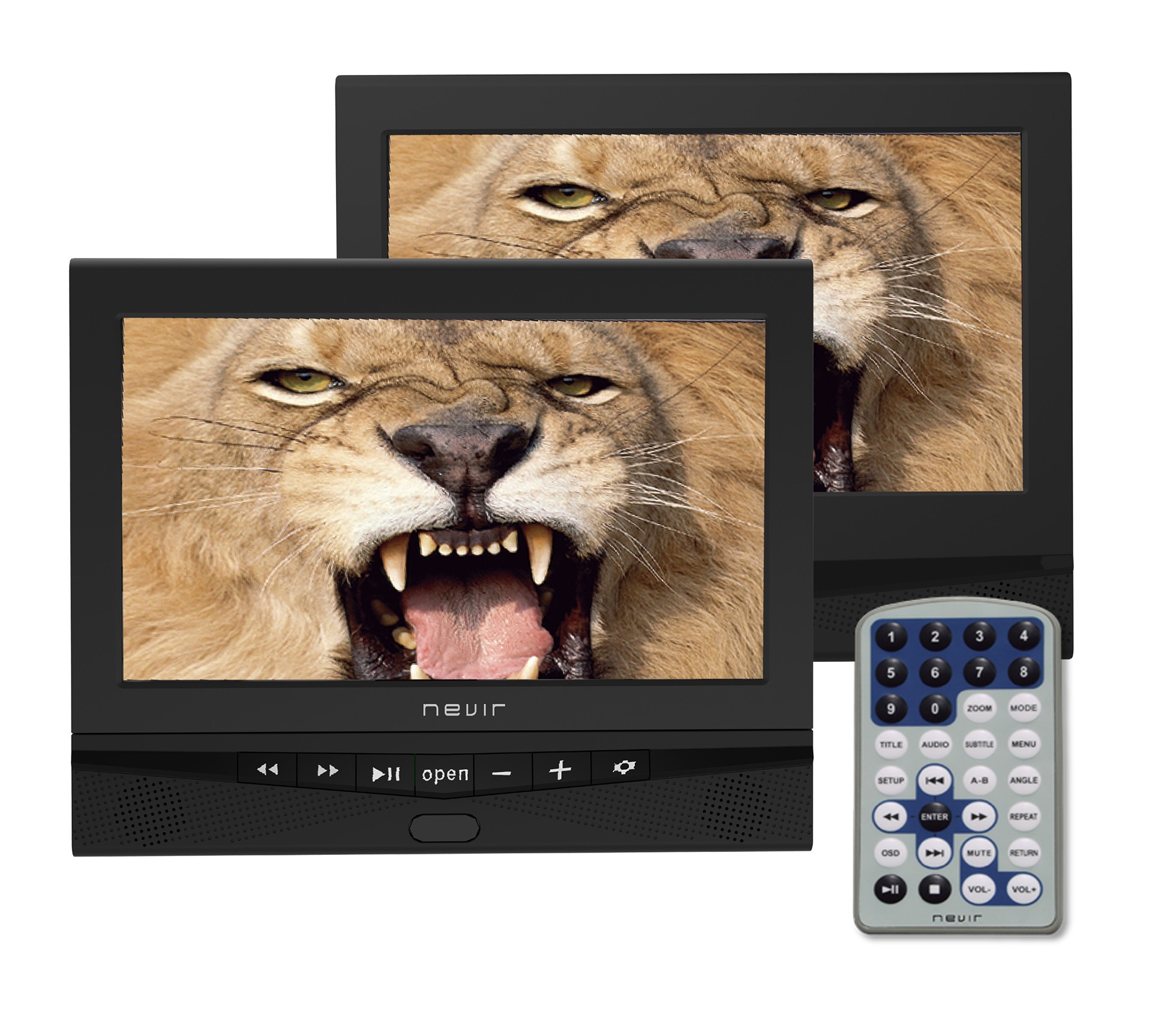 "dvd portátil nevir nvr2778dvd 10"" 2 pantallas"