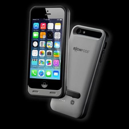 funda boompods powercase iphone 5 gris