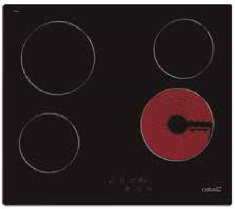 placa vitrocerámica cata tn604 s/marco 4f
