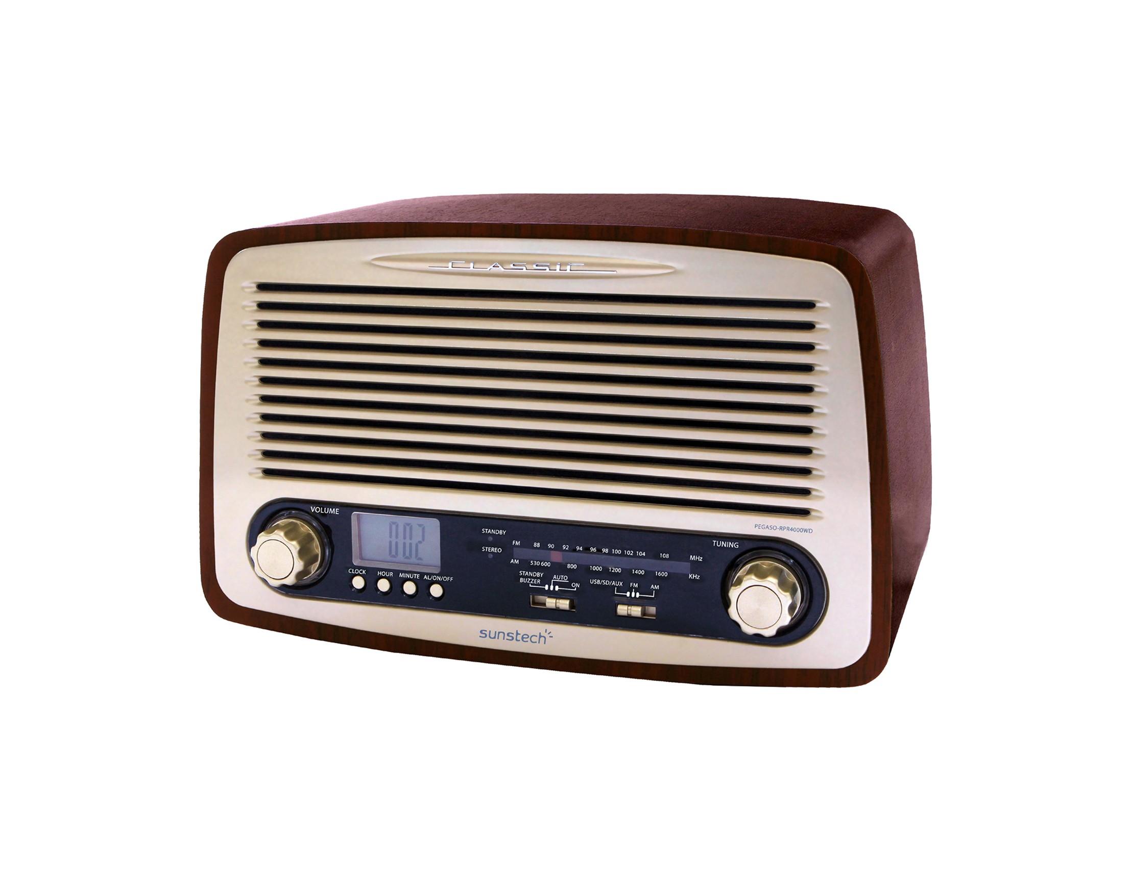 radio sunstech rpr4000 retro madera