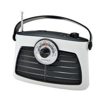 radio sunstech rps660 blanco analógica