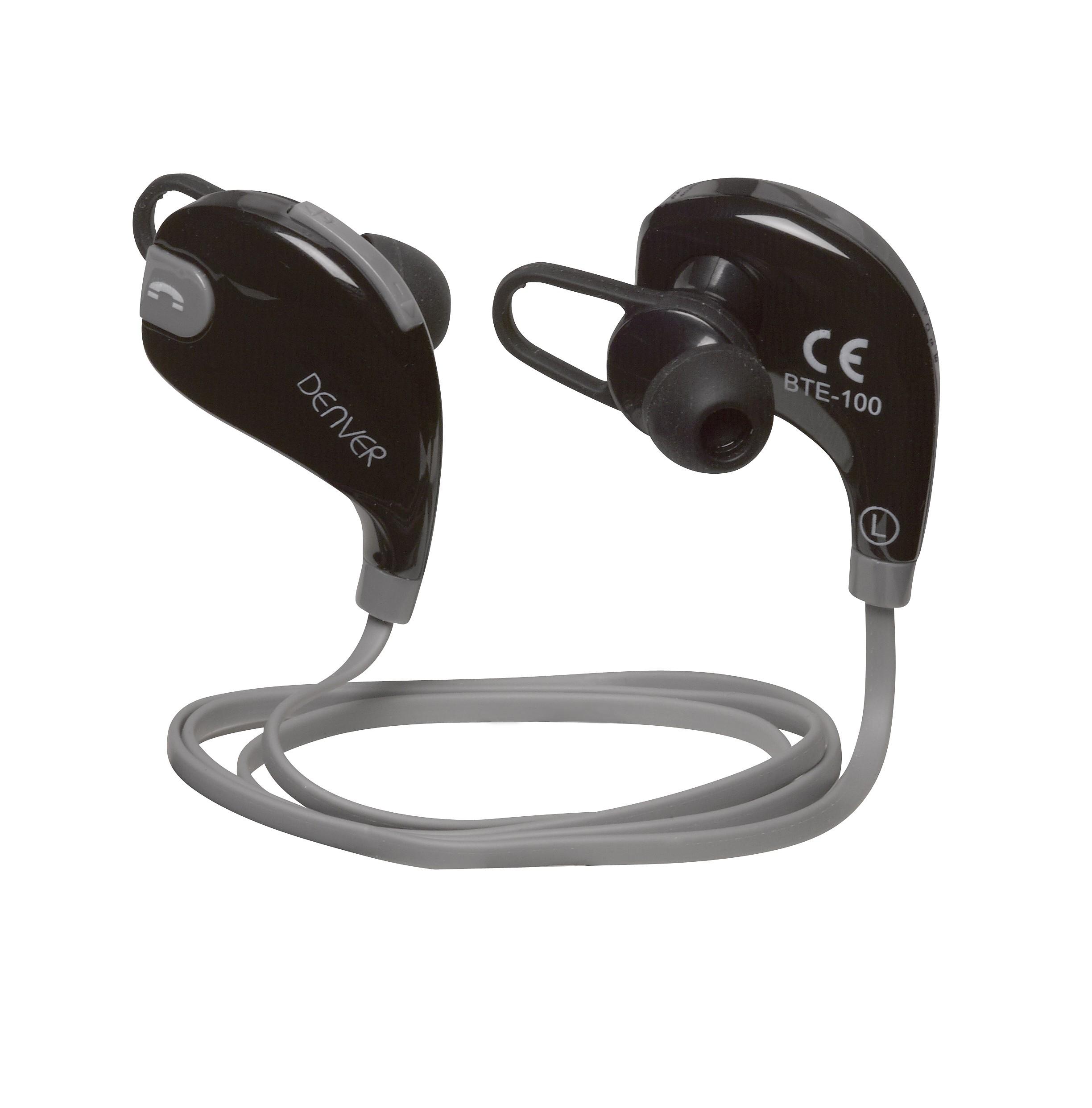 auriculares denver bte100grey bluetooth