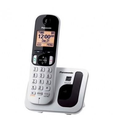 teléfono panasonic kxtgc210sps gris metal