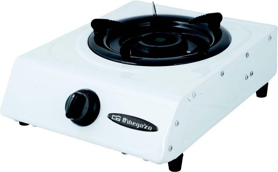 hornillo de gas orbegozo fo1600 1 fuego blanco