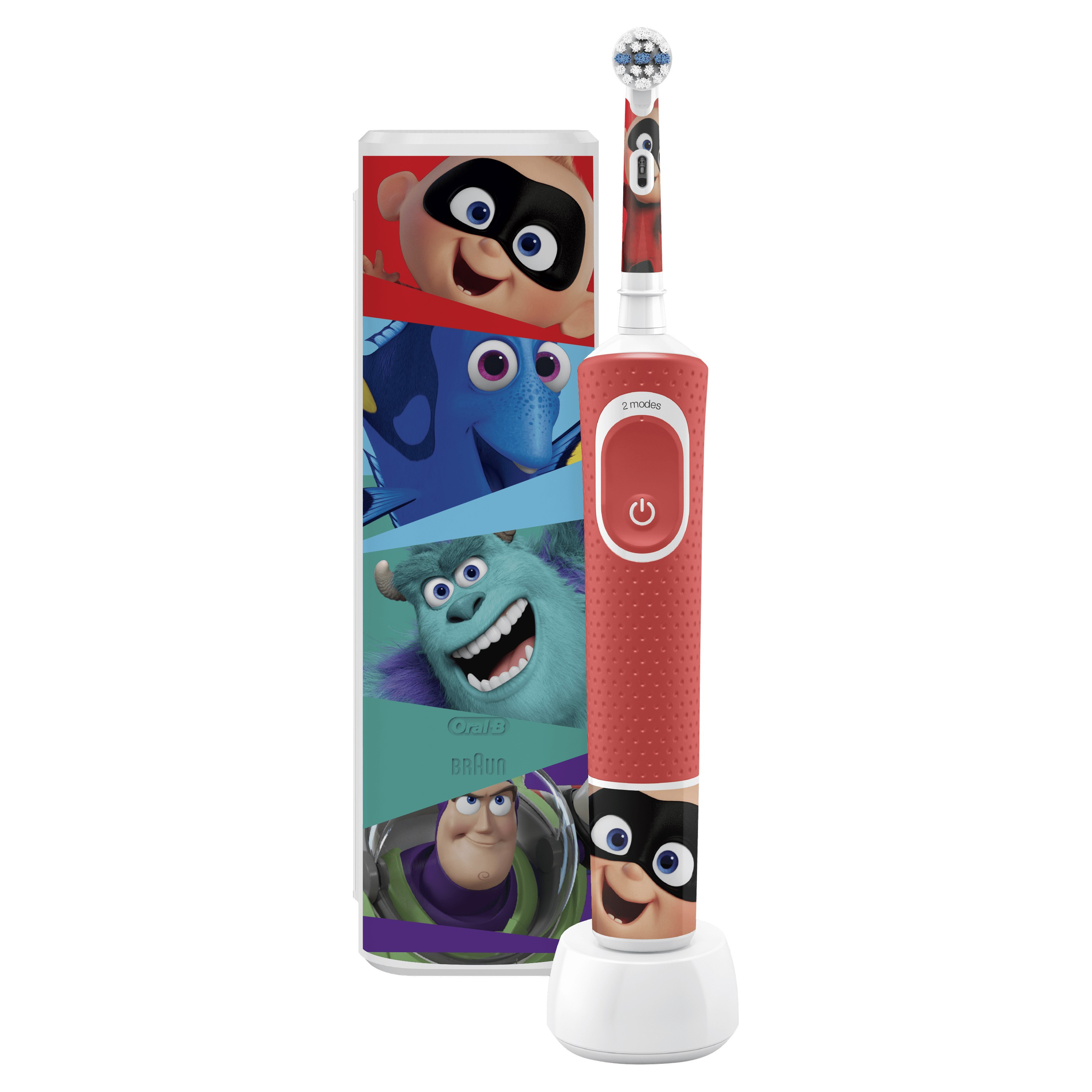 cepillo dental oral-b d100 kids pixar + estuche