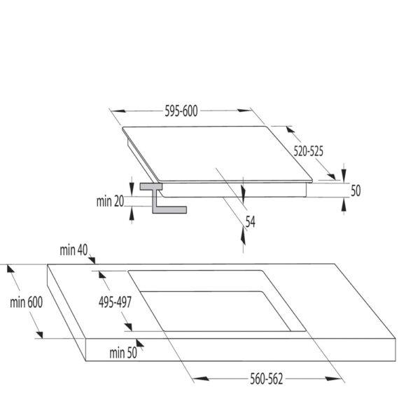 placa inducción hisense i6433cb 4f puente