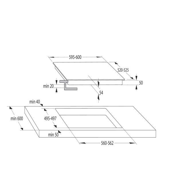 placa inducción hisense i6456cb 4f flex