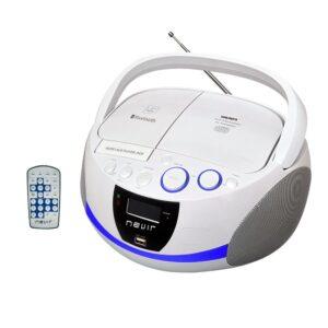 radio cd nevir nvr-480 ub blanco bluetooth