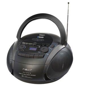 radiocassette cd nevir nvr-482ucm negro usb