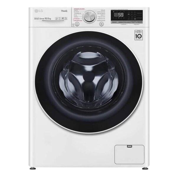lavadora lg f4wv5010s0w blanco 10.5kg wifi vapor