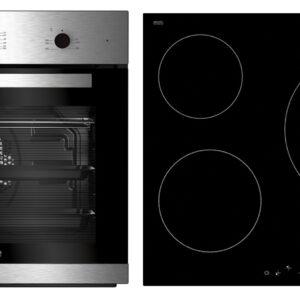 conjunto horno y placa beko bse22120x inox vitro