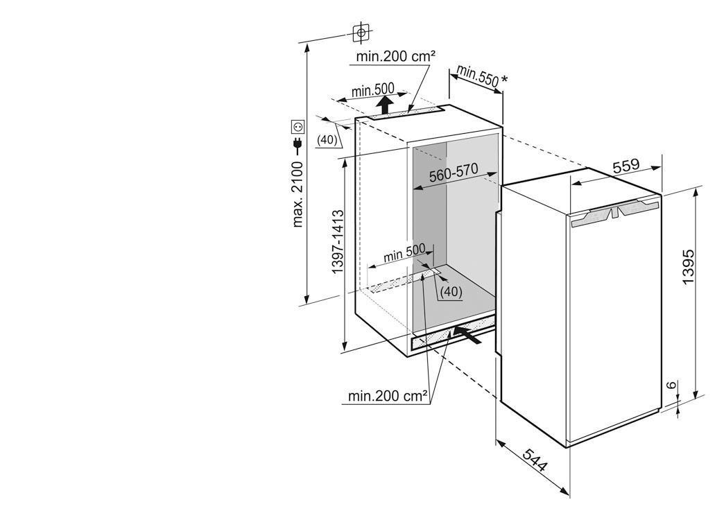 frigorífico integrable liebherr ik2764 1.41m