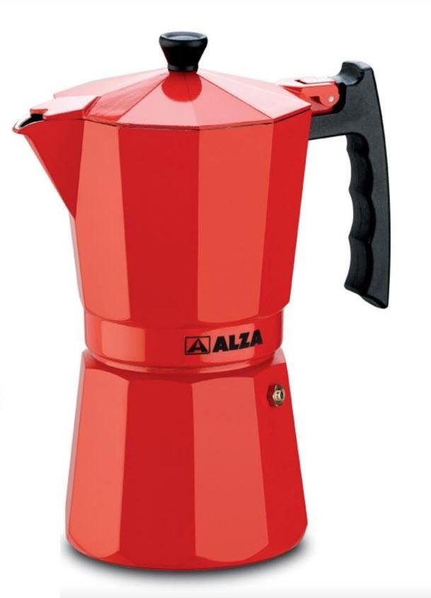 cafetera italiana alza luxe red 9 tazas