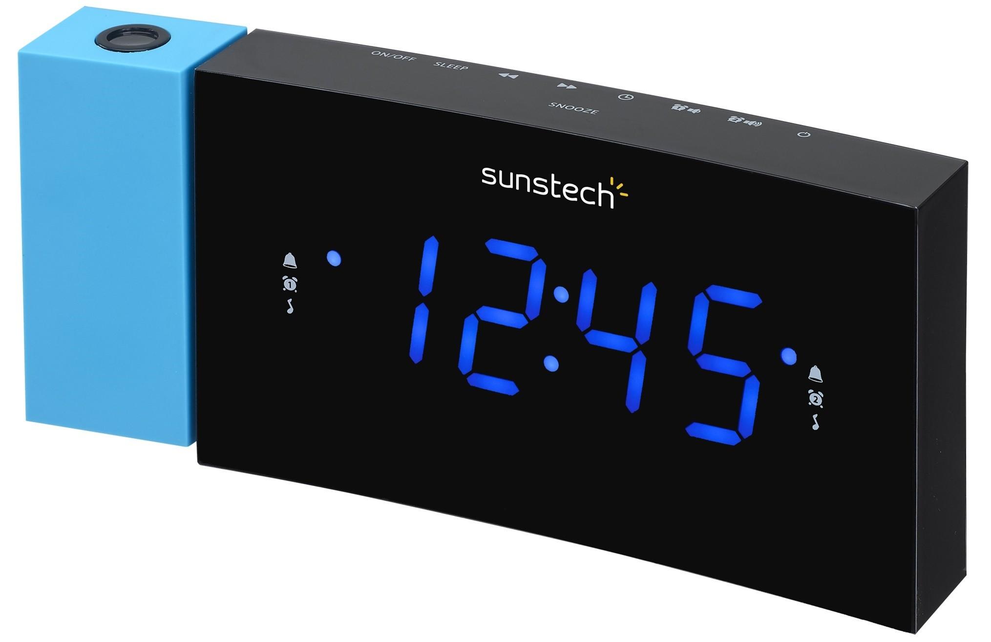 radio despertador sunstech frdp3 azul