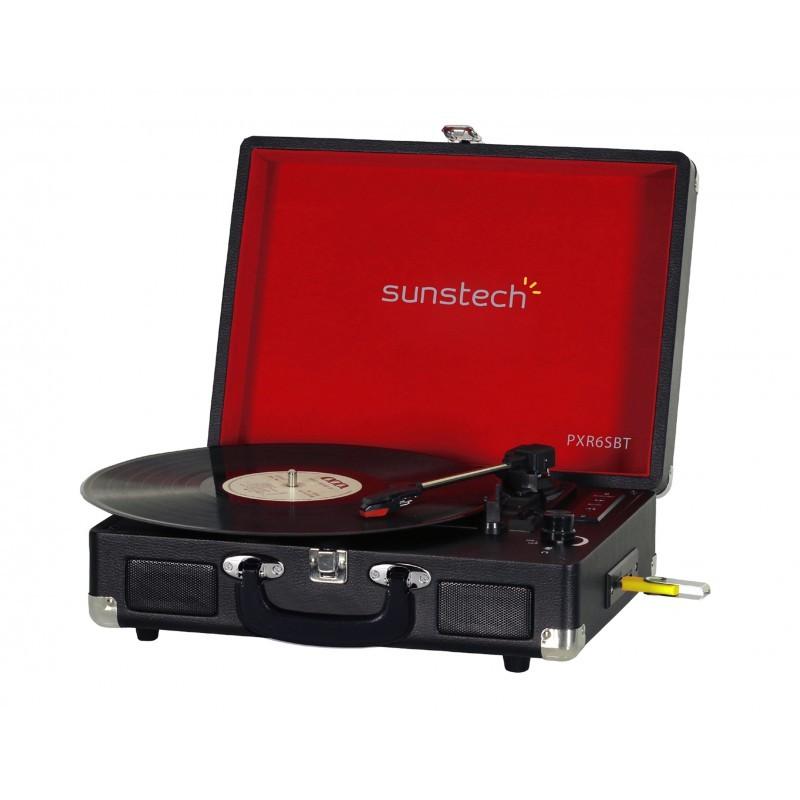 giradiscos sunstech pxr6sbt negro