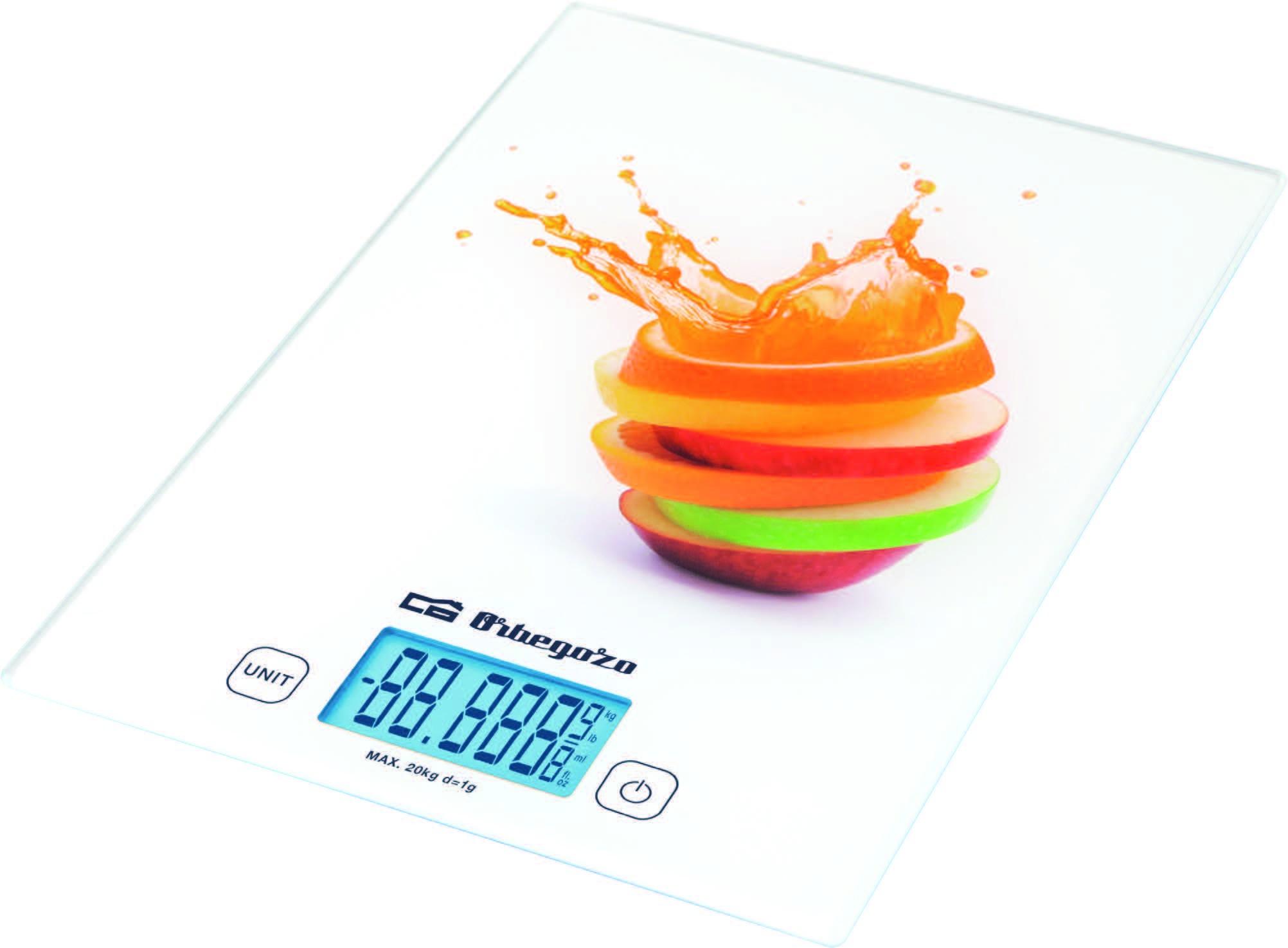 báscula cocina orbegozo pc2025 cristal