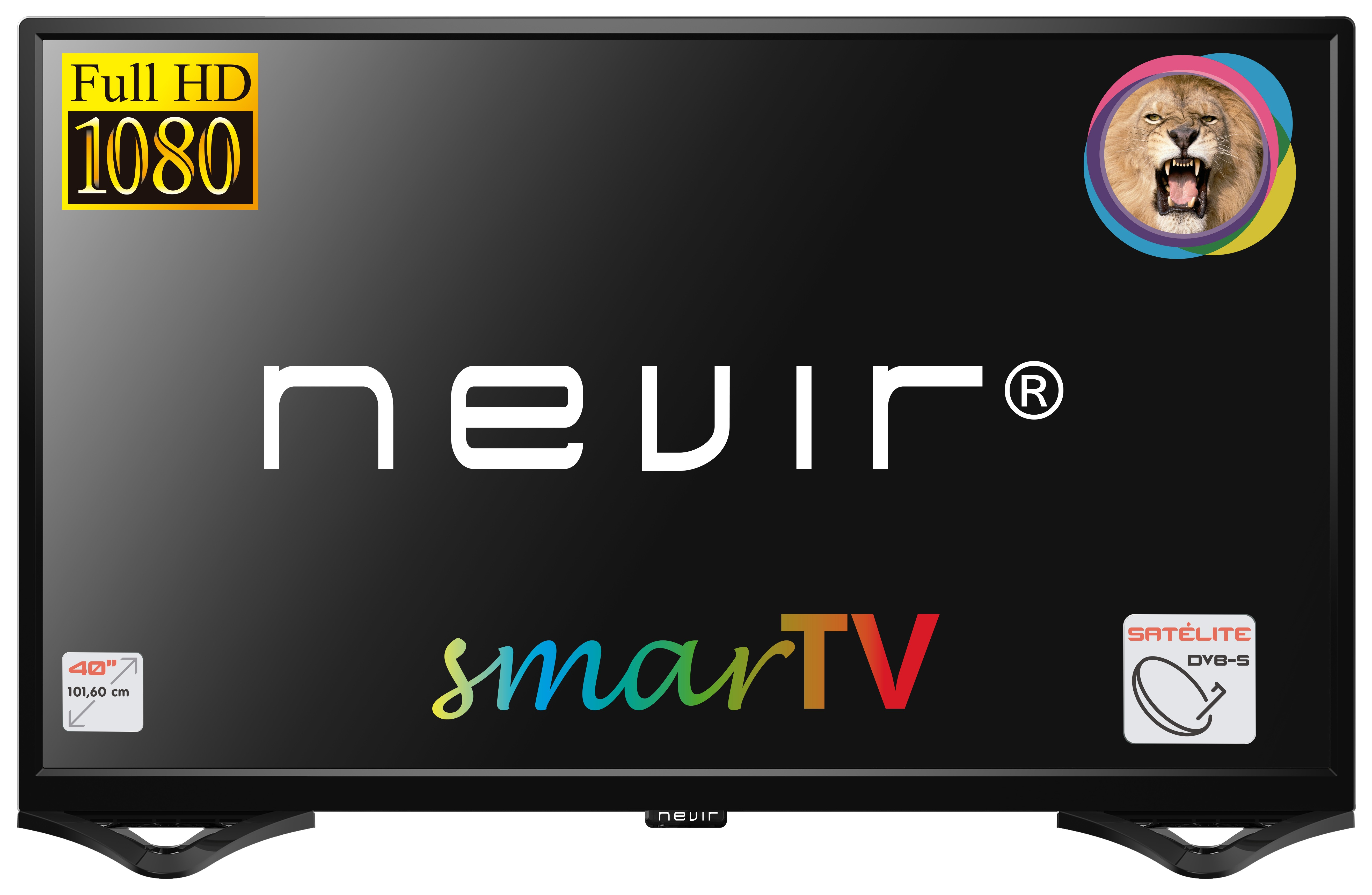 tv led nevir nvr8050 40 inch smarttv negro