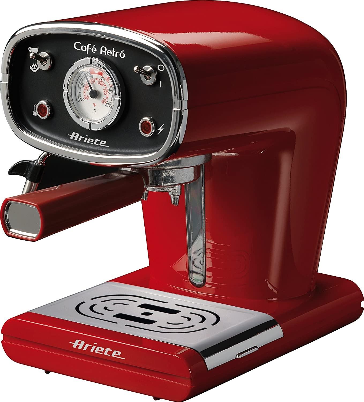 cafetera express ariete 1388/30 retro rojo