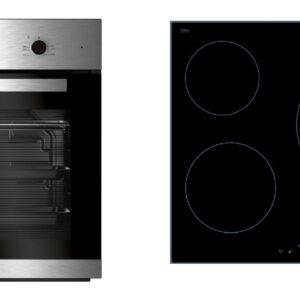 conjunto horno y placa beko bse22121x inox vitro