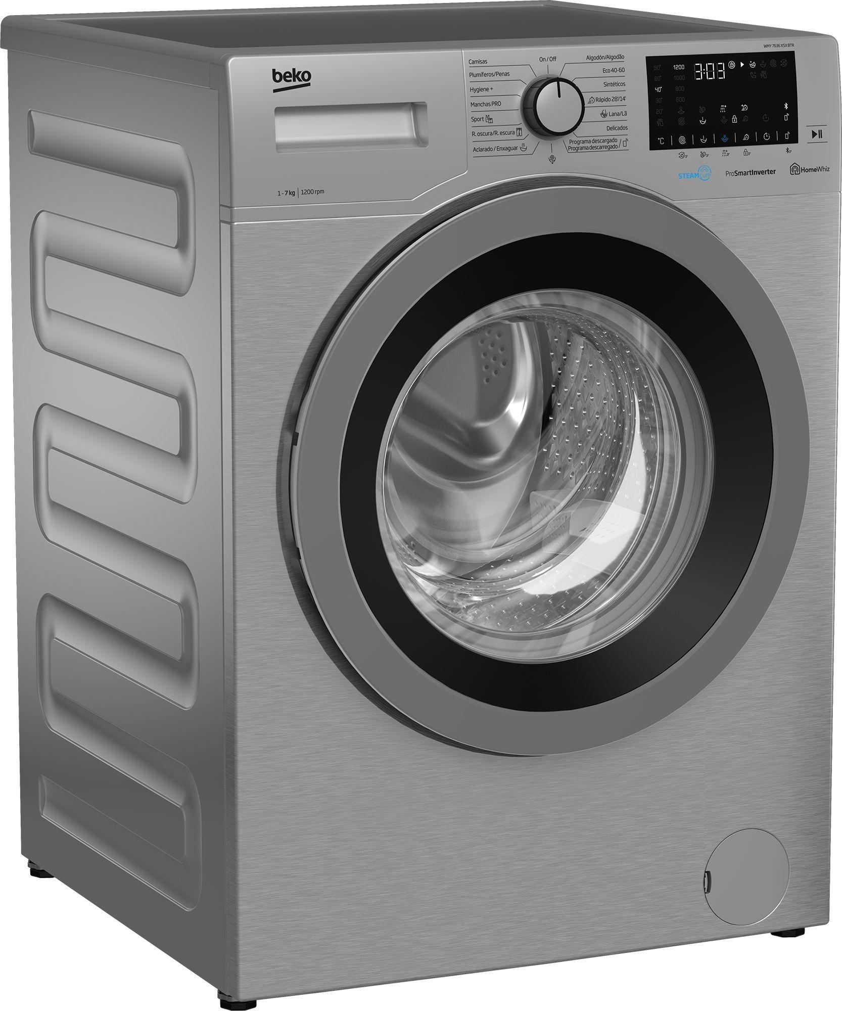 lavadora beko wmy 7636 xsx btr inox 7kg bluetooth
