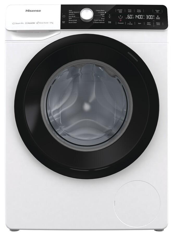 lavadora hisense wfga80141vm blanco 8kg