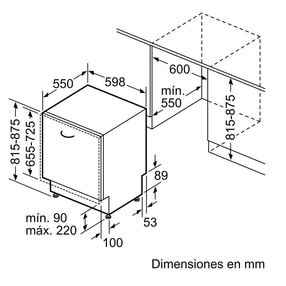 lavavajillas integrable siemens sn63hx52ae