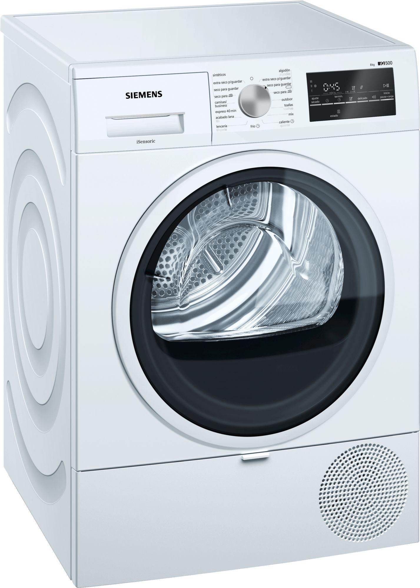 secadora siemens wt47r461es 8kg bco