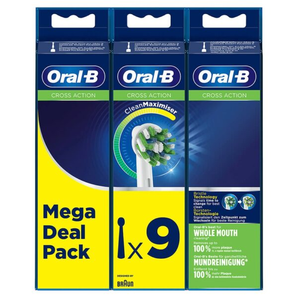 cabezal oral-b eb50rb-9 cross action pack 9 uds