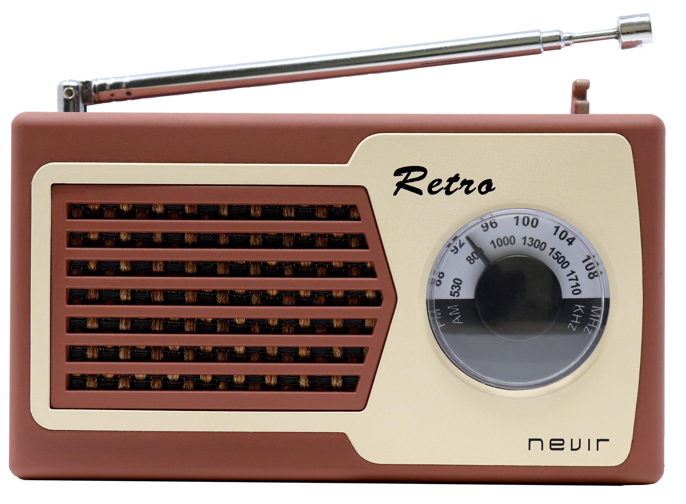 radio nevir nvr200 marrón