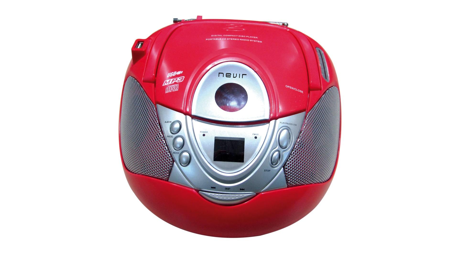 radio cd nevir nvr474u mp3 usb rojo