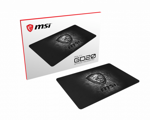MSI Agility GD20 Alfombrilla de ratón para juegos Gris