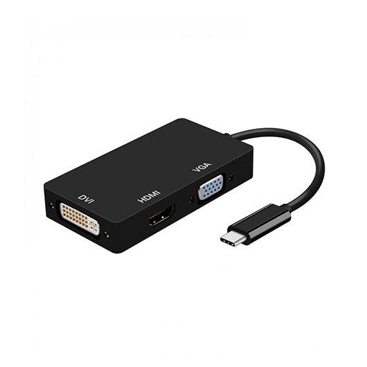 ADAPTADOR USB-C A DVI/HDMI/vía AISENS NEGRO