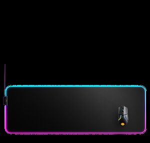 Steelseries QcK Prism Cloth XL Alfombrilla de ratón para juegos Negro