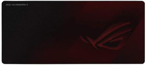 asíS ROG Strix Scabbard II Alfombrilla de ratón para juegos Negro, Rojo
