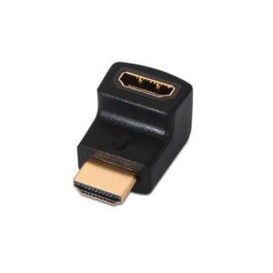 ADAPTADOR ACODADO HDMI(A)H A HDMI(A)M AISENS NEGRO