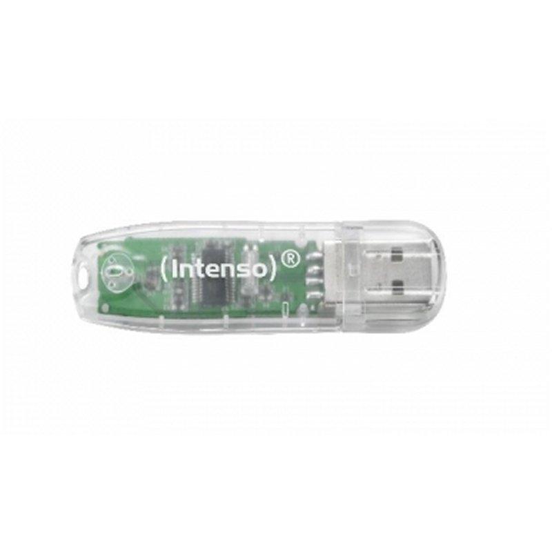Intenso 3502480 Lápiz USB 2.0 Raúnbow 32GB Transp