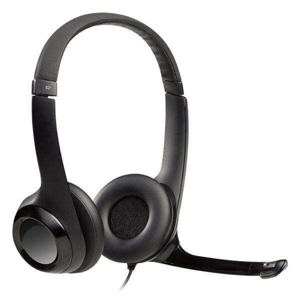 Logitech Auricular+Mic H390 USB Negro