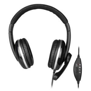 NGS VOX 800 Auricular+microfono USB  Negro