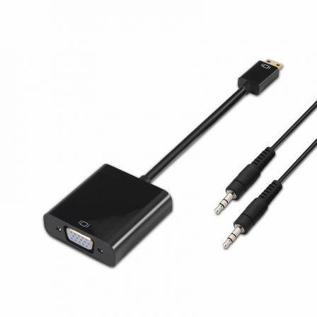 Adaptador Aisens A122-0127/ Mini HDMI Macho - vía Hembra/ Jack 3.5 Hembra
