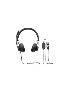 AURICULARES MICRO LOGITECH UC ZONE WIRED NEGRO