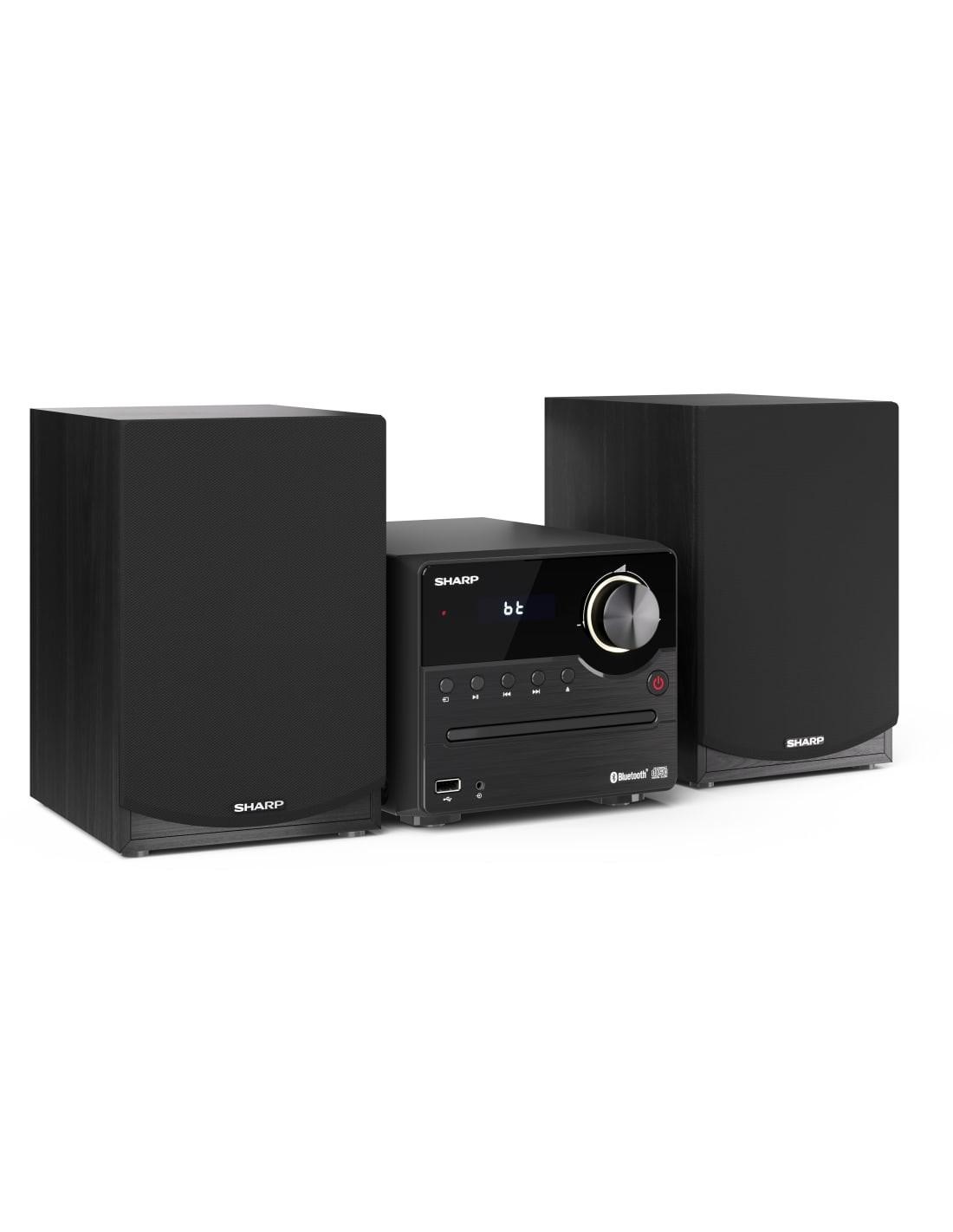 Sharp XL-B512(BR) sistema de audio para el hogar Microcadena de musica para usoídomástico 45 W Negro