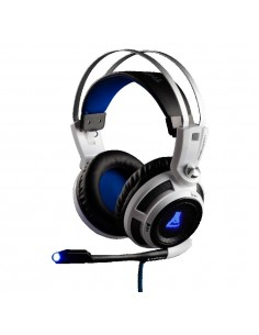 The G-Lab KORP200 auricular y casao Auriculares díadema Conector de 3,5 mm Negro, Blanco