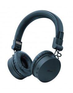 Auriculares inAlambricos Trust Tones 23908/ con microfono/ Bluetooth/ Azules