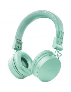 Auriculares inAlambricos Trust Tones 23912/ con microfono/ Bluetooth/ Turquésa